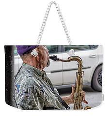 Sax In The Street Weekender Tote Bag