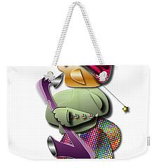Weekender Tote Bag featuring the digital art Sax Man by Marvin Blaine