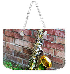 Saxophone Against Brick Weekender Tote Bag