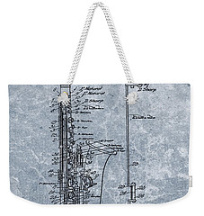 Saxophone Patent Cool Blue Weekender Tote Bag by Dan Sproul