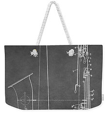 Saxophone Patent Weekender Tote Bag by Dan Sproul