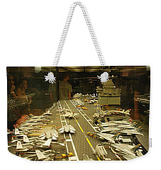 Scale Model Aircraft Carrier Weekender Tote Bag