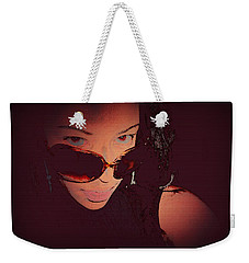 Scanned - Ai P. Nilson - Digital Art - Self Portrait Weekender Tote Bag