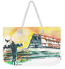 Scarecrow Welcomes The Morning Weekender Tote Bag