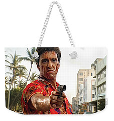 Weekender Tote Bag featuring the painting Scarface Artwork 2 by Sheraz A