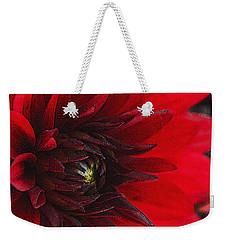 Scarlet Dahlia Weekender Tote Bag by Janice Rae Pariza