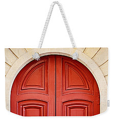 Scarlet Red Doors - Paris Weekender Tote Bag