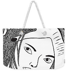 Weekender Tote Bag featuring the drawing Scars To Prove It Dont Just Survive...thrive by Jamie Lynn
