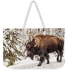 Scary Bison Weekender Tote Bag
