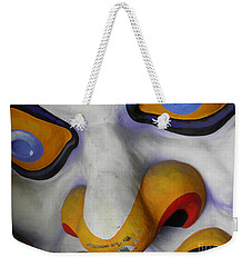 Weekender Tote Bag featuring the photograph Scary by Valerie Reeves