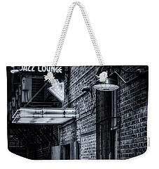 Scat Lounge In Cool Black And White Weekender Tote Bag by Joan Carroll