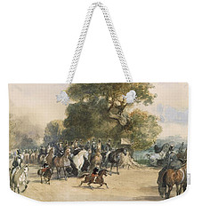 Scene In Hyde Park Weekender Tote Bag