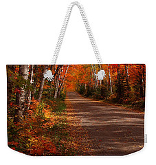 Scenic Maple Drive Weekender Tote Bag by James Peterson