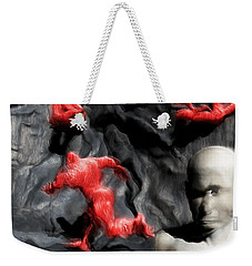 Weekender Tote Bag featuring the digital art Schizophrenic Lucidity by John Alexander