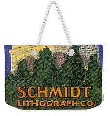 Schmidt Lithograph  Weekender Tote Bag by Cathy Anderson