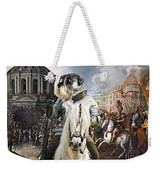 Schnauzer Art - A Siege The Sack Of Rome   Weekender Tote Bag