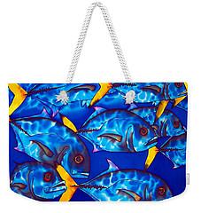 Schooling  Jack Fish Weekender Tote Bag