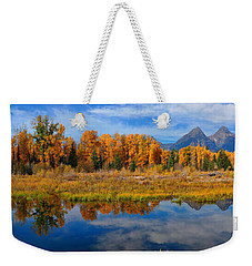 Schwabacher Autumn Reflections Panorama Weekender Tote Bag