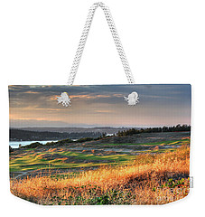 Weekender Tote Bag featuring the photograph Scottish Style Links In September - Chambers Bay Golf Course by Chris Anderson