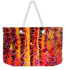 Weekender Tote Bag featuring the mixed media Scottsdale Saguaro by Michelle Dallocchio