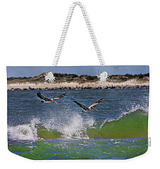 Scouting For A Catch Weekender Tote Bag by Betsy Knapp