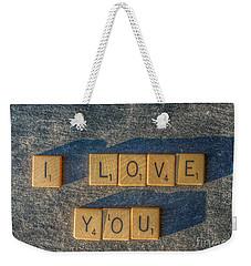 Scrabble I Love You Weekender Tote Bag by Randy Steele