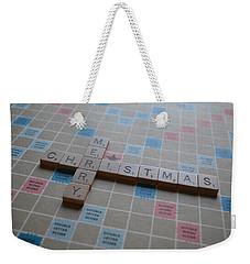 Scrabble Merry Christmas Weekender Tote Bag by Bill Owen