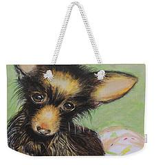 Scrapper Weekender Tote Bag by Jeanne Fischer