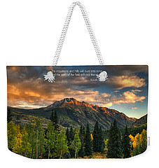 Scripture And Picture Isaiah 55 12 Weekender Tote Bag