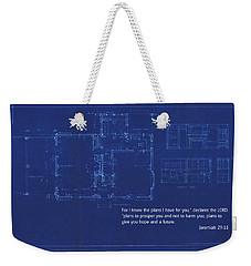 Scripture And Picture Jeremiah 29 11 Weekender Tote Bag