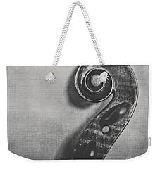 Scroll In Black And White Weekender Tote Bag