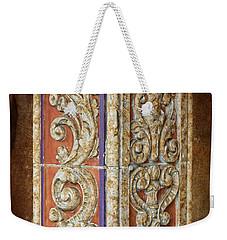 Scrolled Column Weekender Tote Bag