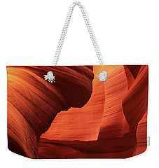 Weekender Tote Bag featuring the photograph Sculpted Sandstone Upper Antelope Slot Canyon Arizona by Dave Welling