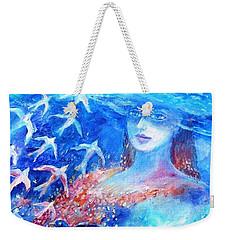 Sea Dreaming  Weekender Tote Bag by Trudi Doyle