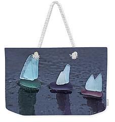 Sea Glass Flotilla Weekender Tote Bag by Barbara McMahon