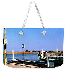 Weekender Tote Bag featuring the photograph Sea Gulls Watching Over The Wetlands by Amazing Photographs AKA Christian Wilson