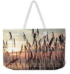 Fabulous Blue Sea Oats Sunrise Weekender Tote Bag