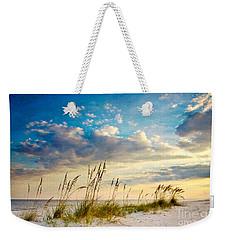 Sea Oats Sunset Weekender Tote Bag