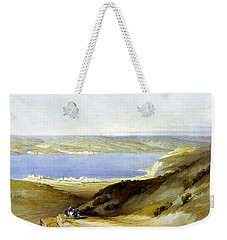 Sea Of Galilee Weekender Tote Bag by Munir Alawi