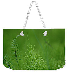 Weekender Tote Bag featuring the photograph Sea Of Green by Bianca Nadeau