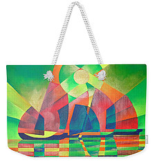 Weekender Tote Bag featuring the painting Sea Of Green by Tracey Harrington-Simpson