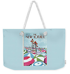 Sea Of Umbrellas Weekender Tote Bag