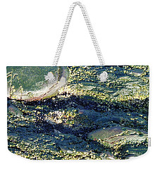 Weekender Tote Bag featuring the photograph Sea Rocks by Robert Nickologianis
