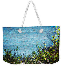 Weekender Tote Bag featuring the digital art Sea Shore 1 by David Lane