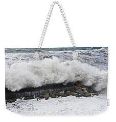 Sea Storm  Weekender Tote Bag by Antonio Scarpi