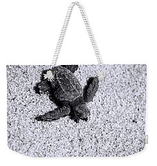 Sea Turtle In Black And White Weekender Tote Bag
