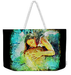 Weekender Tote Bag featuring the digital art Sea Turtle Love by Absinthe Art By Michelle LeAnn Scott