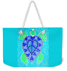 Sea Turtle Swim Weekender Tote Bag