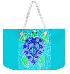 Sea Turtle Swim Weekender Tote Bag by Nick Gustafson