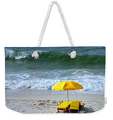 Weekender Tote Bag featuring the photograph By The Sea Waiting For Me by Nava Thompson